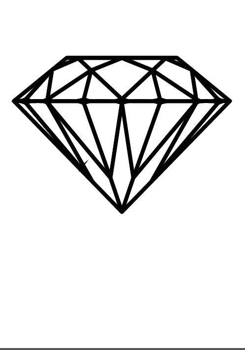 diamond gem coloring page coloring pages